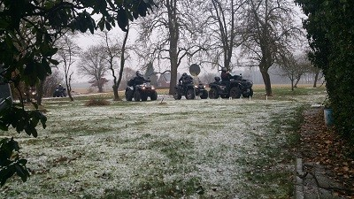 Quad fahren Winter